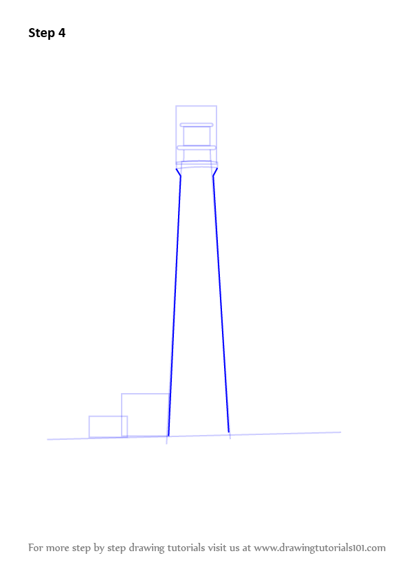 how to draw a beach hut step by step