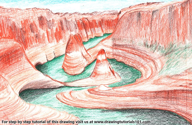 Grand Canyon National Park Color Pencil Drawing