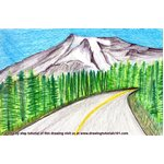 How to Draw Mount Rainier National Park