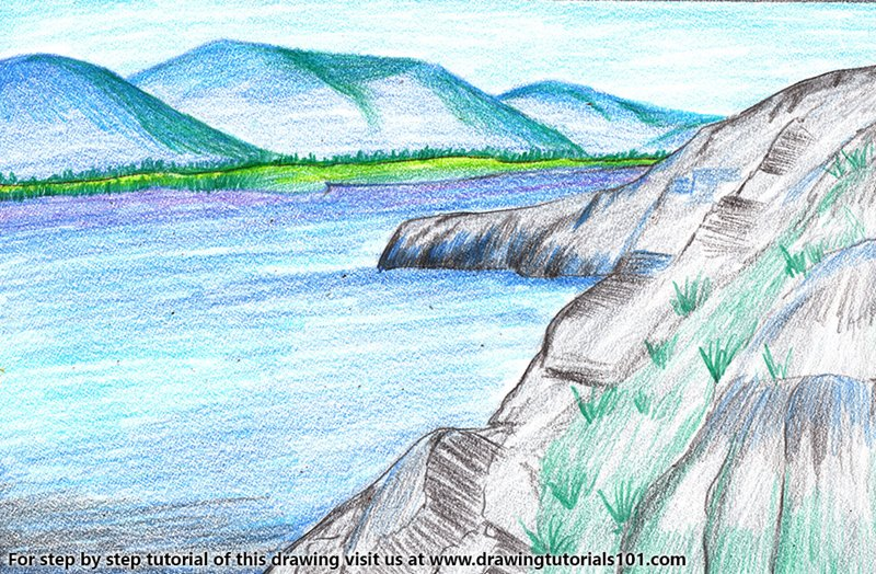 Pribaikalsky National Park Color Pencil Drawing