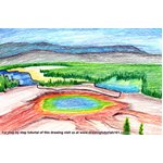 How to Draw Yellowstone National Park
