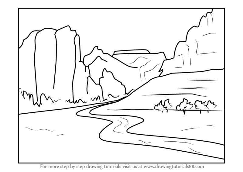 Line Drawing River : Draw river imagenesmy