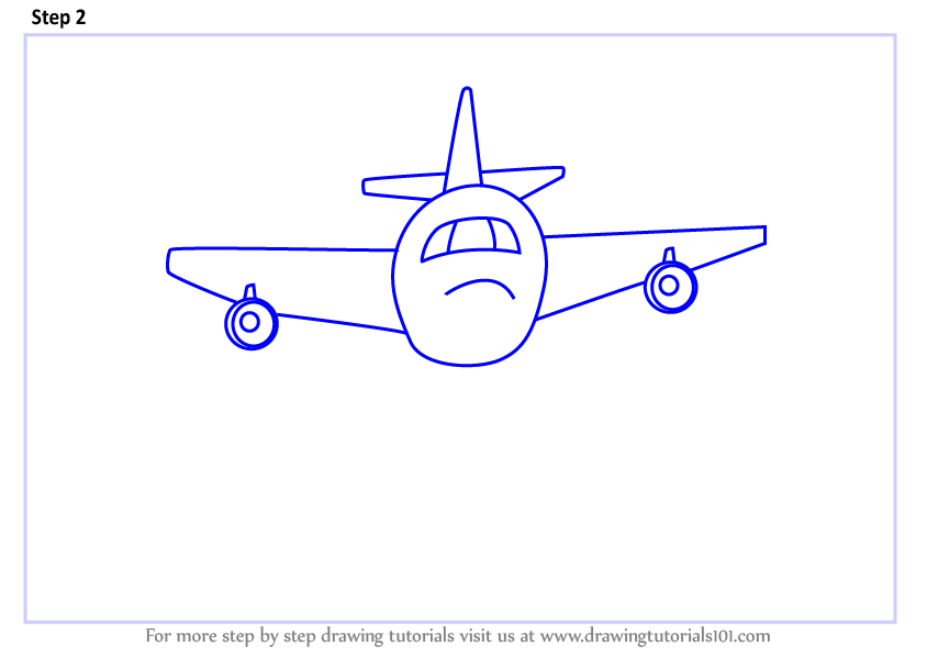 how to draw an aeroplane step by step easy