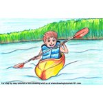 How to Draw a Boy Canoeing Scene