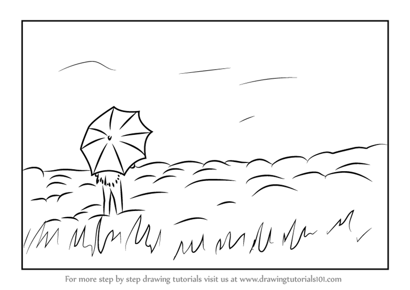 Learn How to Draw a Hilltop Scene (Scenes) Step by Step : Drawing ...