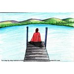 How to Draw a Person Sitting on Boat Dock