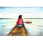 How to Draw Woman Rowing Boat