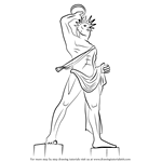 How to Draw Colossus of Rhodes