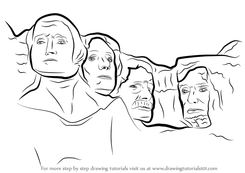 Learn How to Draw Mount Rushmore