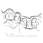 How to Draw Mount Rushmore