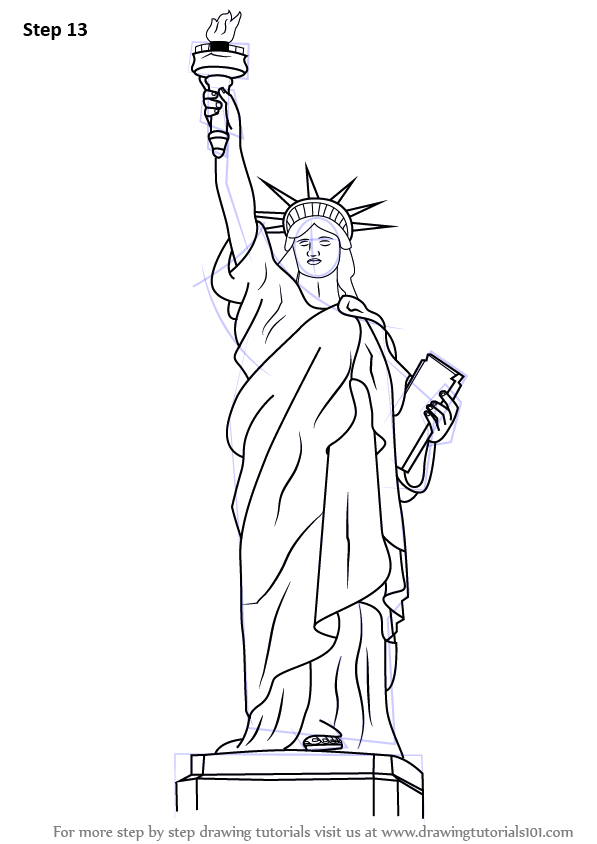 learn how to draw statue of liberty statues step by step drawing tutorials