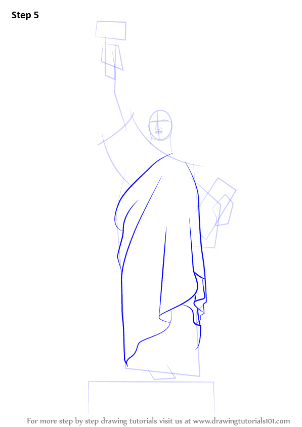 Statue Of Liberty Drawing Step By Step Learn How to Draw Statue of Liberty Statues Step by Step