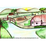 How to Draw an Indian village