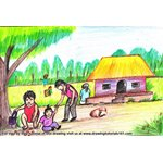 How to Draw Village Life