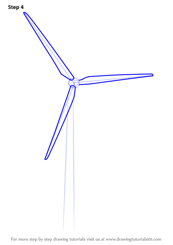 learn how to draw an electric windmill windmills step by step drawing tutorials