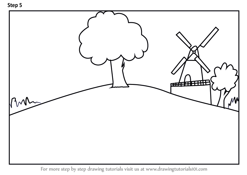 Learn How to Draw a Farm Windmill