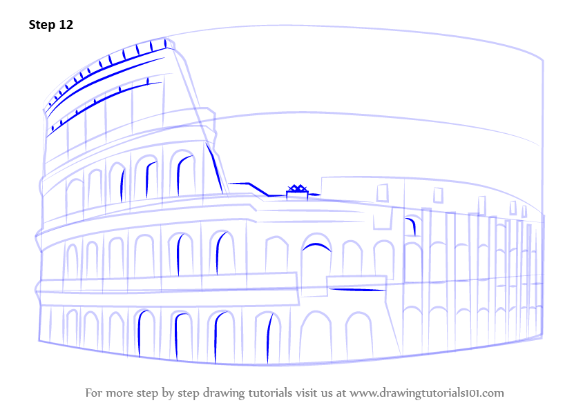 Learn How To Draw The Colosseum Wonders Of The World