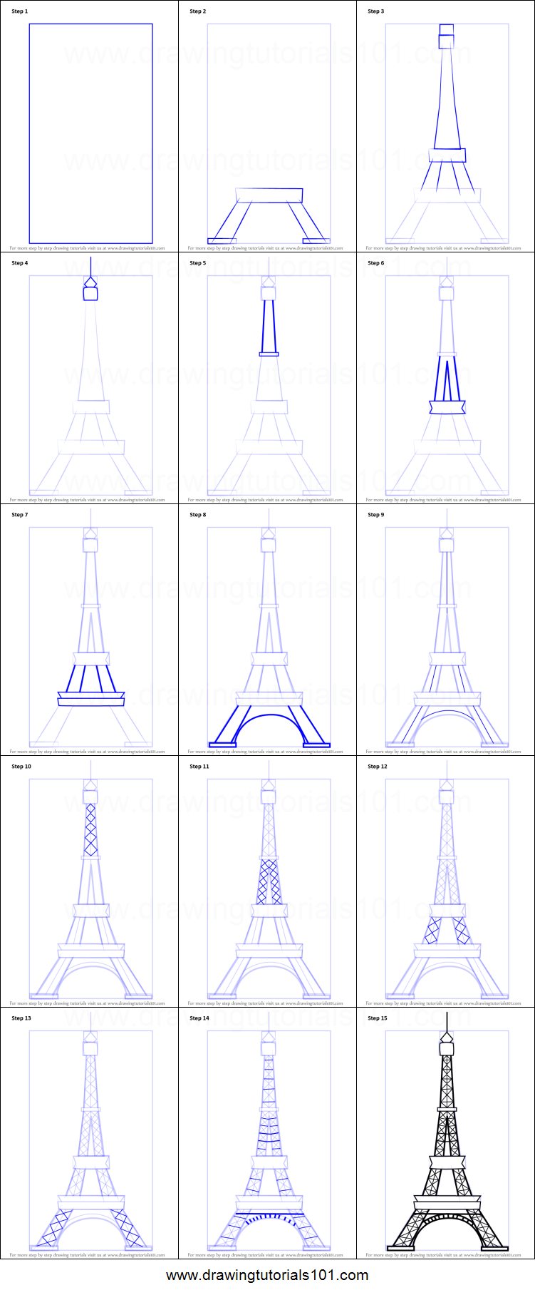 How to draw an eiffel tower printable step by step drawing sheet how to draw an eiffel tower printable step by step drawing sheet drawingtutorials101 thecheapjerseys Gallery