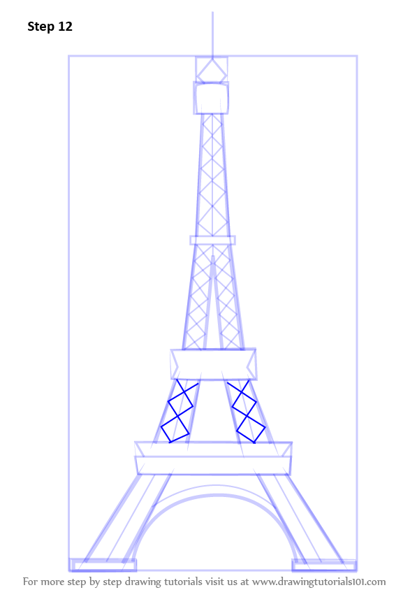 Learn how to draw an eiffel tower wonders of the world step by learn how to draw an eiffel tower wonders of the world step by step drawing tutorials thecheapjerseys Gallery