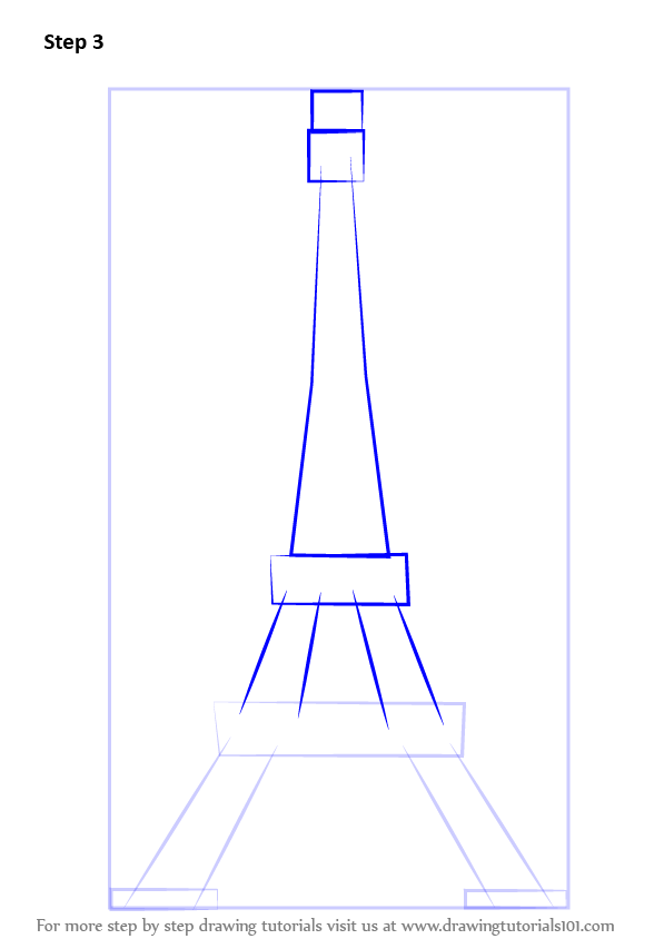 Learn how to draw an eiffel tower wonders of the world step by draw the base of the tower tower itself thecheapjerseys Gallery
