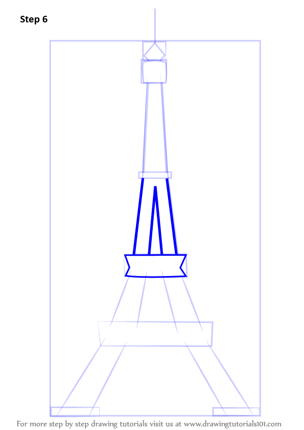 Step by step how to draw an eiffel tower drawingtutorials101 signup for free weekly drawing tutorials thecheapjerseys Image collections