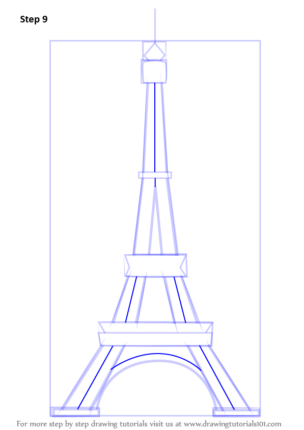 Learn how to draw an eiffel tower wonders of the world step by enhance the drawing as shown thecheapjerseys Gallery