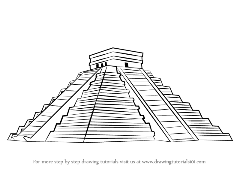 aztec pyramids coloring pages - photo#13