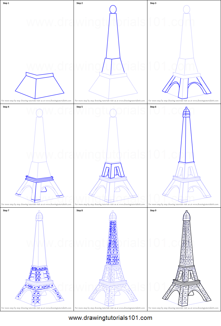 How to draw mini eiffel tower printable step by step drawing sheet how to draw mini eiffel tower printable step by step drawing sheet drawingtutorials101 thecheapjerseys Gallery