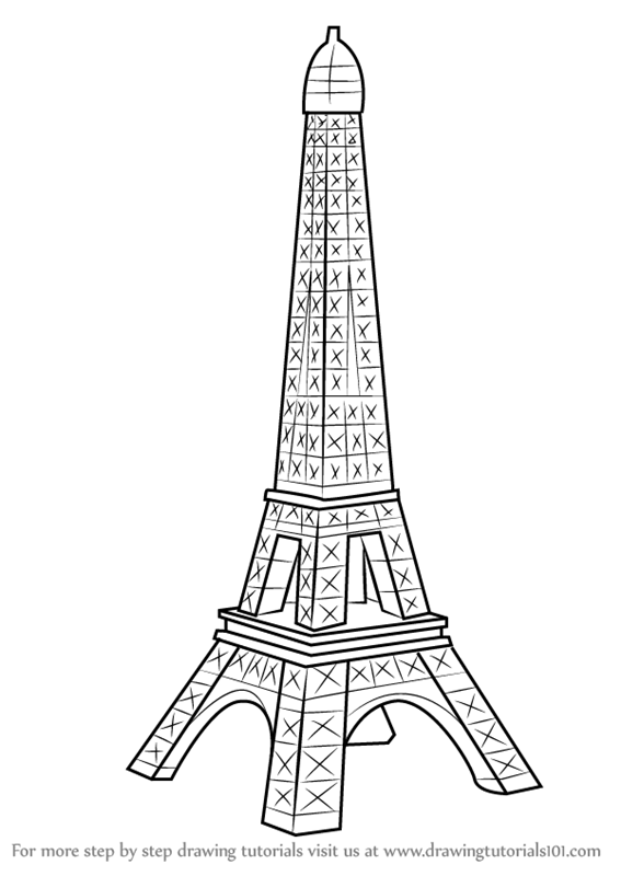 Learn how to draw mini eiffel tower wonders of the world step by how to draw mini eiffel tower thecheapjerseys Gallery