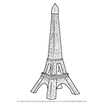 How to Draw Mini Eiffel Tower