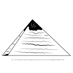 How to Draw Pyramid of Egypt for Kids