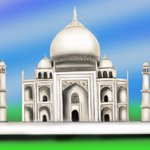 How to Draw Taj Mahal