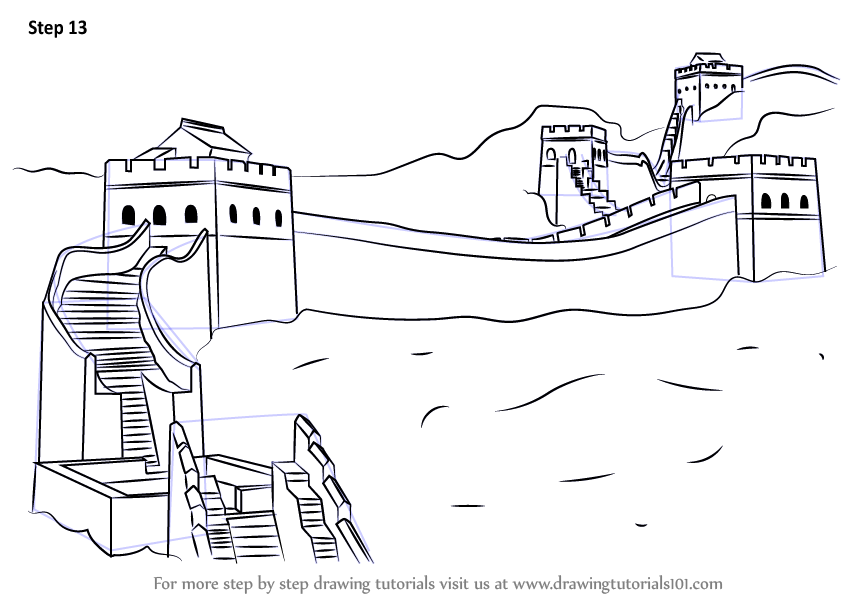 Learn How to Draw Great Wall of