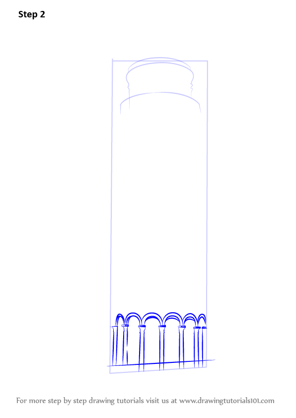 Learn how to draw leaning tower of pisa world heritage for Step by step drawing websites