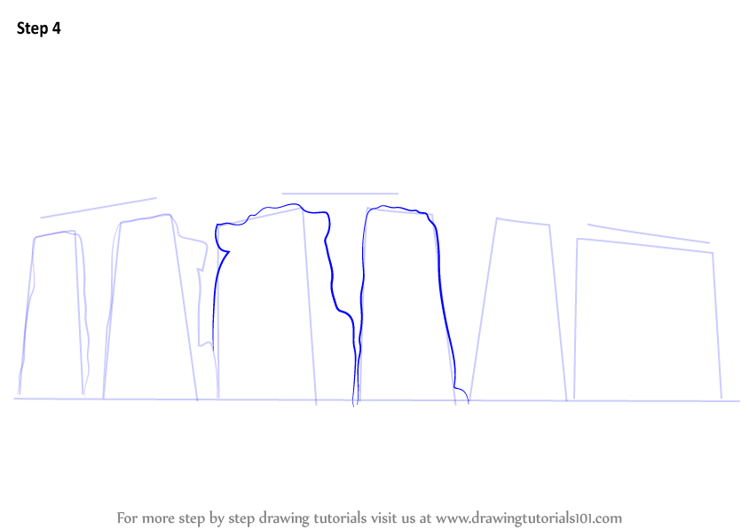Step By Step How To Draw Stonehenge