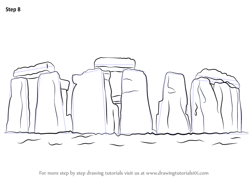 learn how to draw stonehenge world heritage sites step by step drawing tutorials. Black Bedroom Furniture Sets. Home Design Ideas