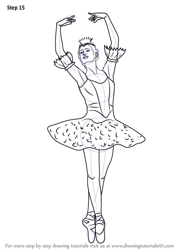 Learn How To Draw A Ballerina Ballet Step By Step Drawing Tutorials