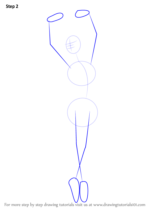 learn how to draw a ballerina ballet step by step