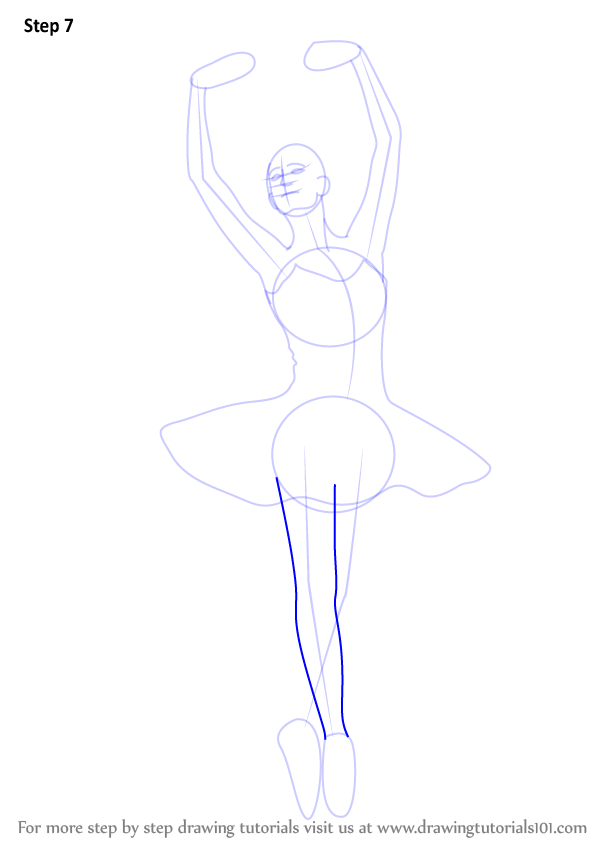 Learn How to Draw a Ballerina (Ballet) Step by Step : Drawing ...