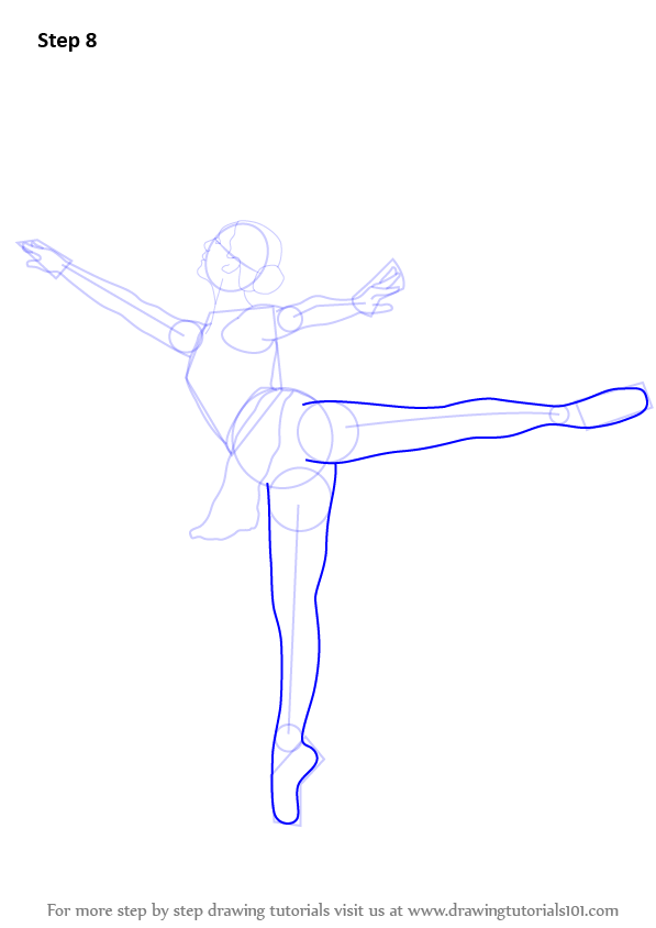 Step by step how to draw a ballet dancer for Ballerina drawing step by step