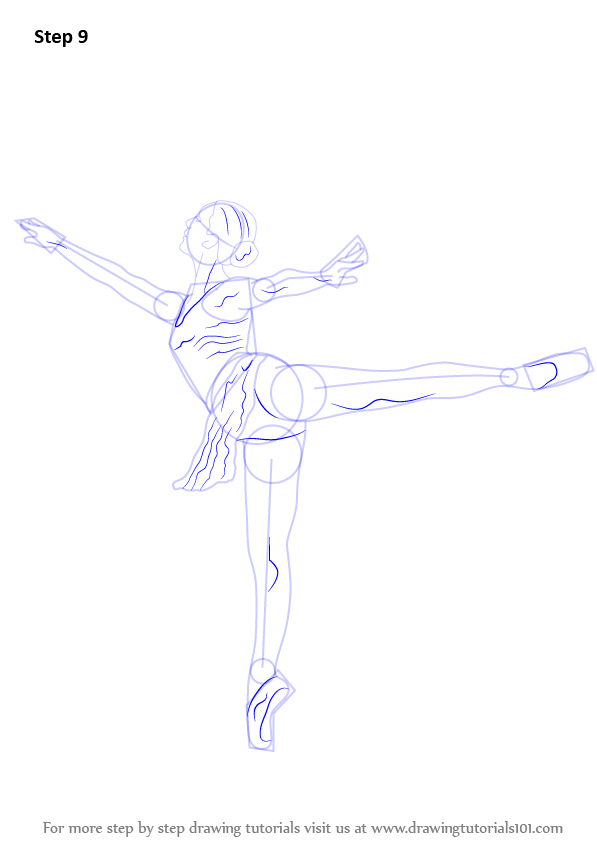 Learn how to draw a ballet dancer ballet step by step for Ballerina drawing step by step