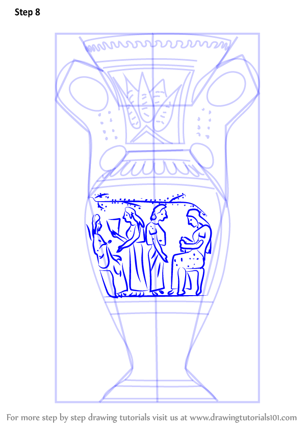 Step By Step How To Draw An Antique Vase Drawingtutorials101 Com