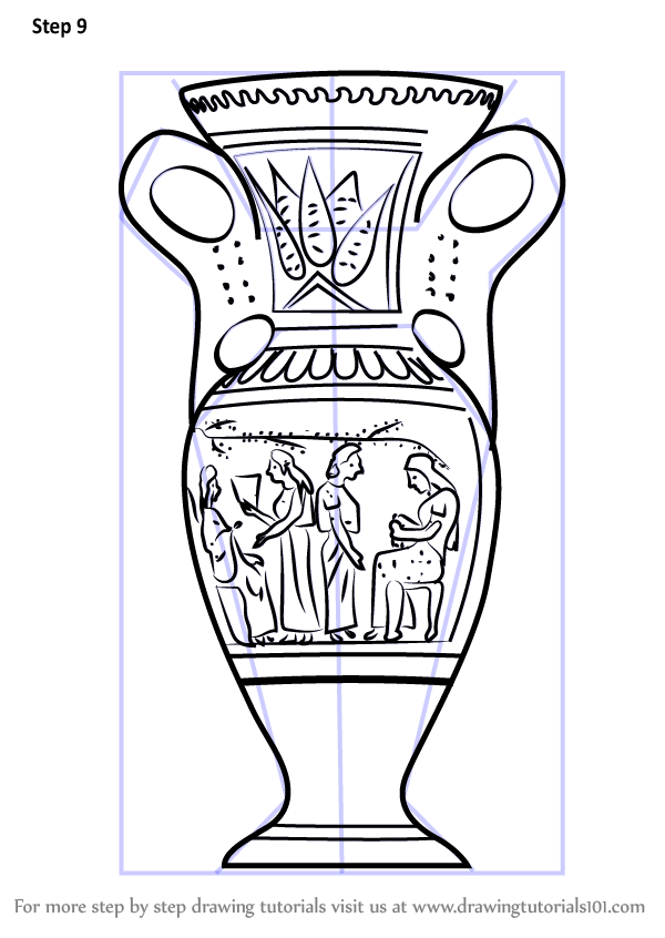 Learn How To Draw An Antique Vase Decor Step By Step