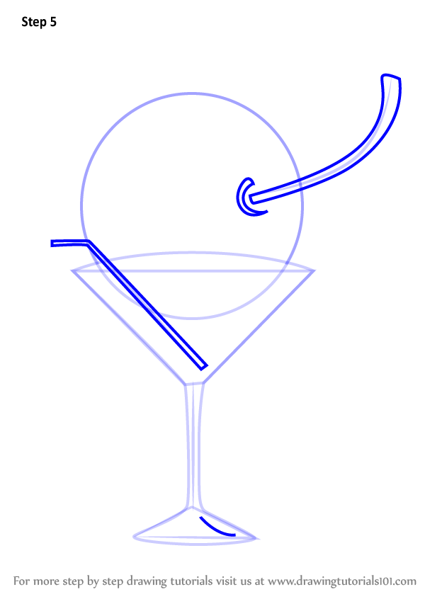 Learn How To Draw Glass With Cherry Decor Step By Step Drawing Tutorials