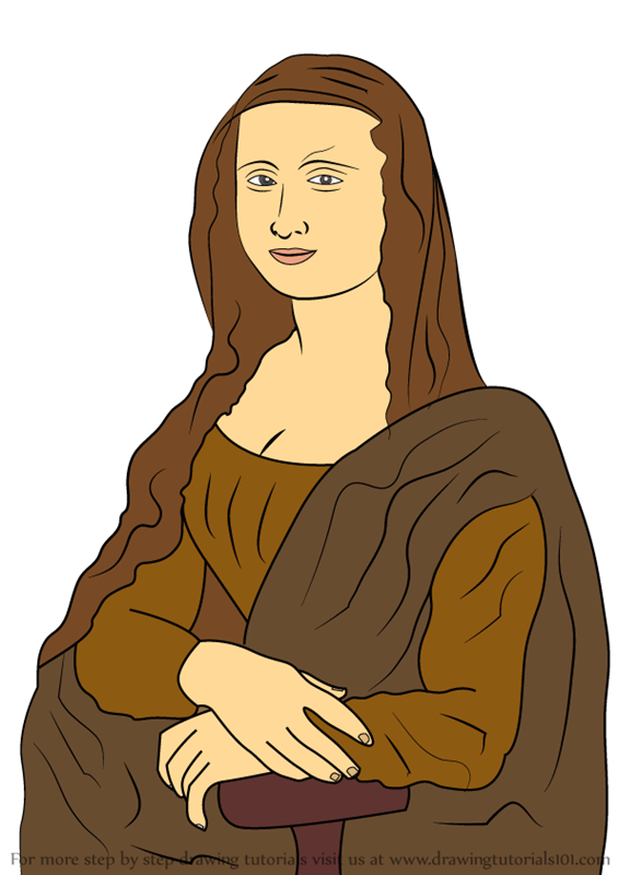 Contour Line Drawing Of Mona Lisa : Learn how to draw mona lisa famous paintings step by