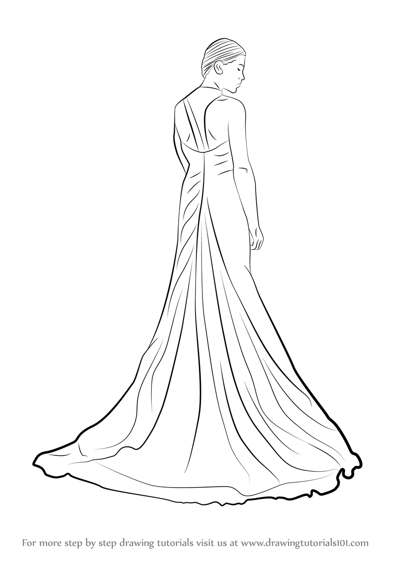 Learn How to Draw a Bridal Gown (Fashion) Step by Step ...
