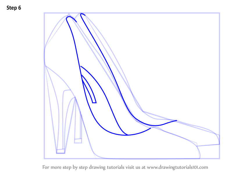 how to draw shoes step by step