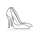 How to Draw High Heeled Shoe
