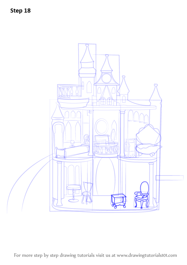 Learn How To Draw Barbie Doll Castle Step By Drawing