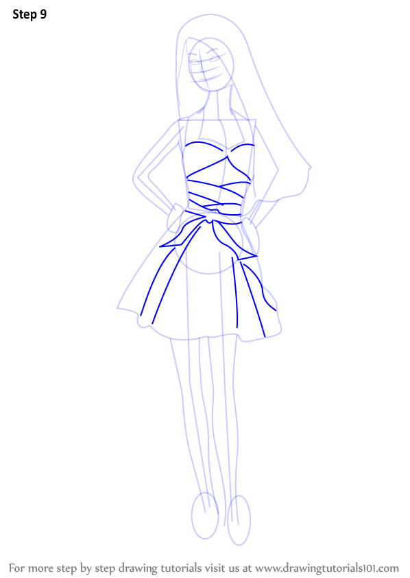 Learn How To Draw A Barbie Doll Barbie Step By Step Drawing